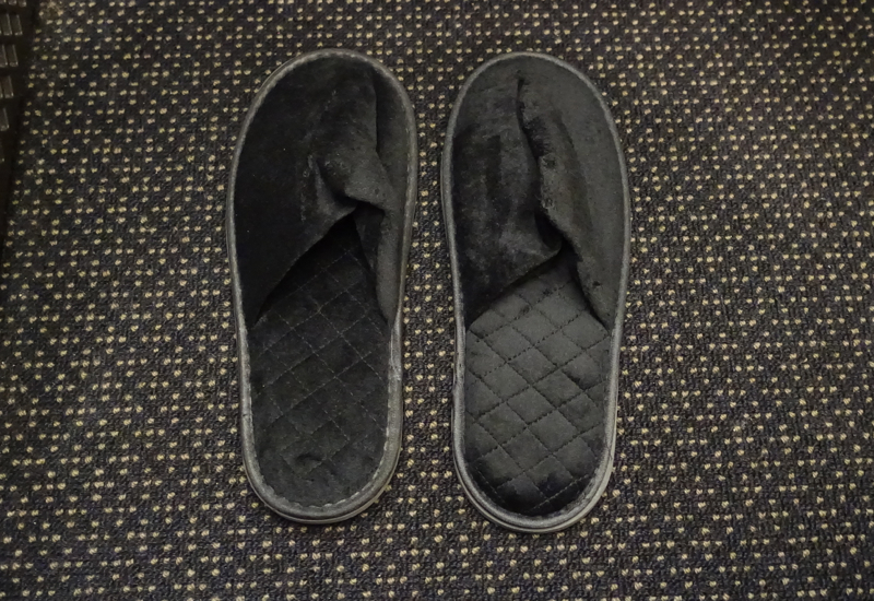 Etihad First Class Black Slippers