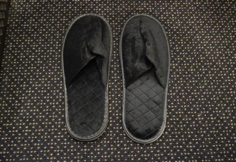 Etihad First Class Black Slippers