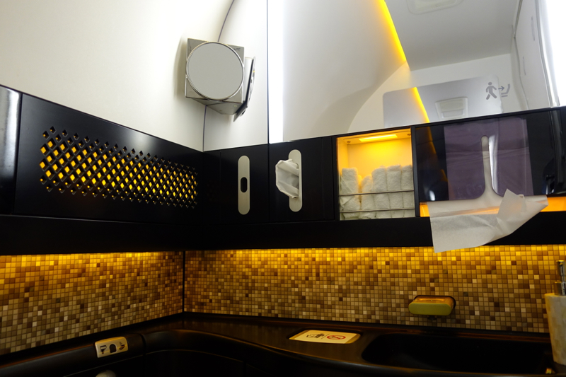 Etihad First Class Bathroom, 787-9