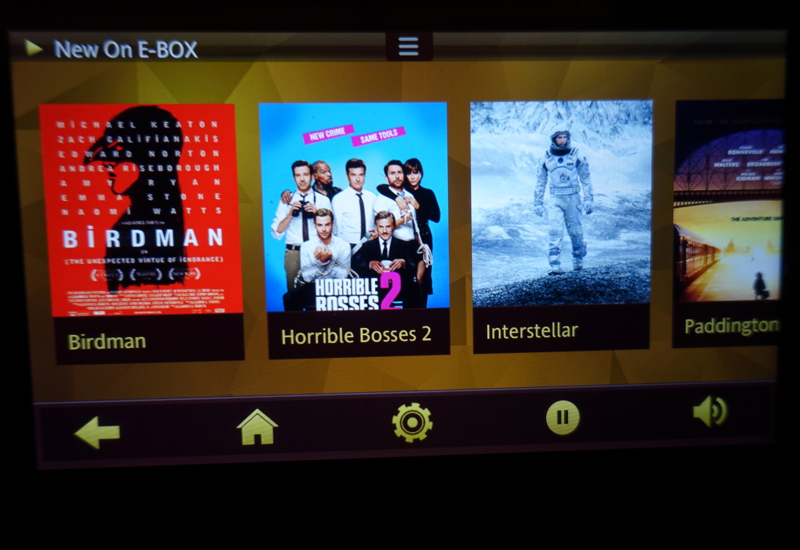 Etihad E-Box In Flight Entertainment (IFE)