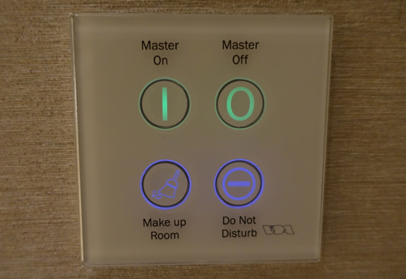 Master Light Controls and Do Not Disturb Button, Rosewood Abu Dhabi