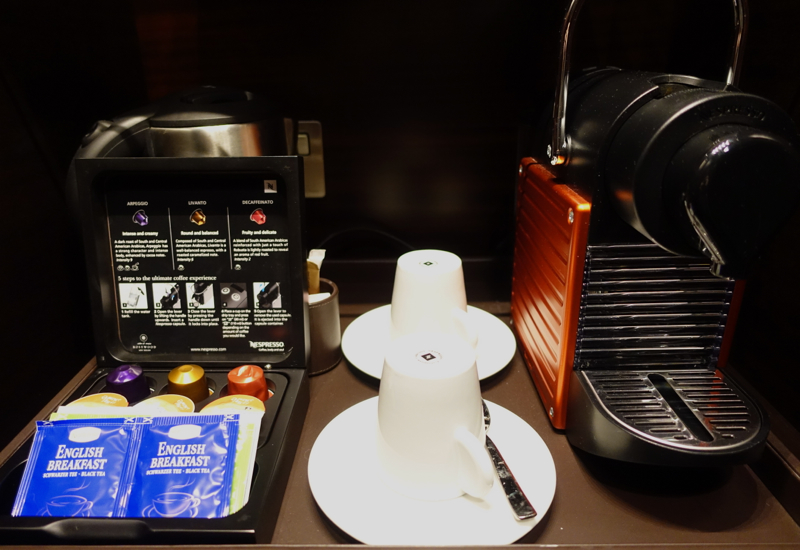 Nespresso Machine and Teas, Rosewood Abu Dhabi Review