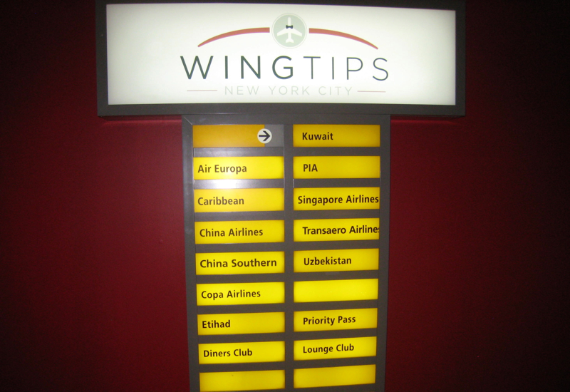 Review-Wingtips Lounge JFK Terminal 4-Airlines Using Lounge