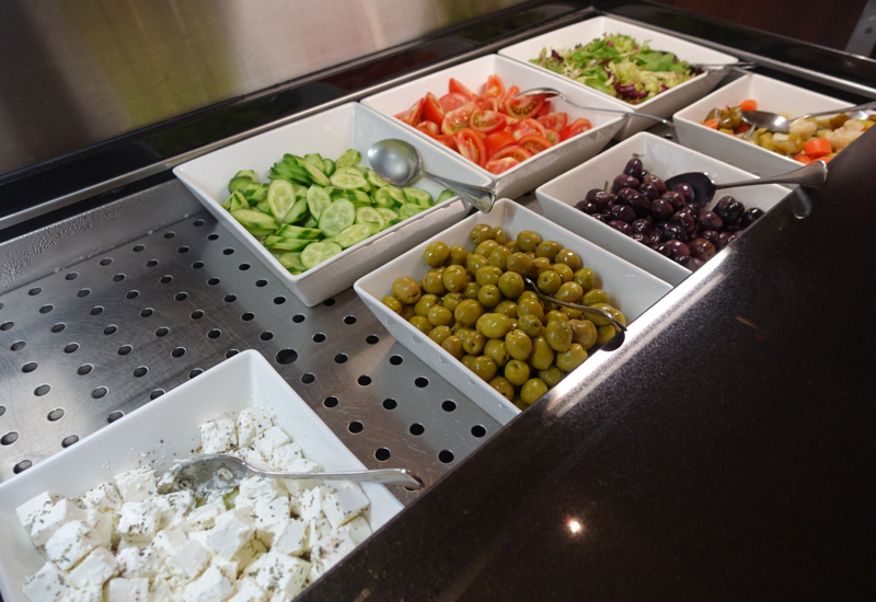 Review-Etihad Business Class Lounge Abu Dhabi-Salad Bar