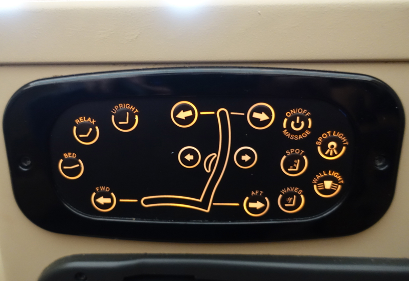 Etihad Business Class Review A330-200-Seat Controls