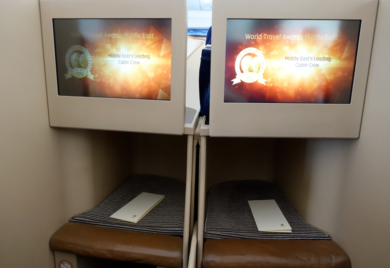 Etihad Business Class Review A330-200: Footwell and IFE