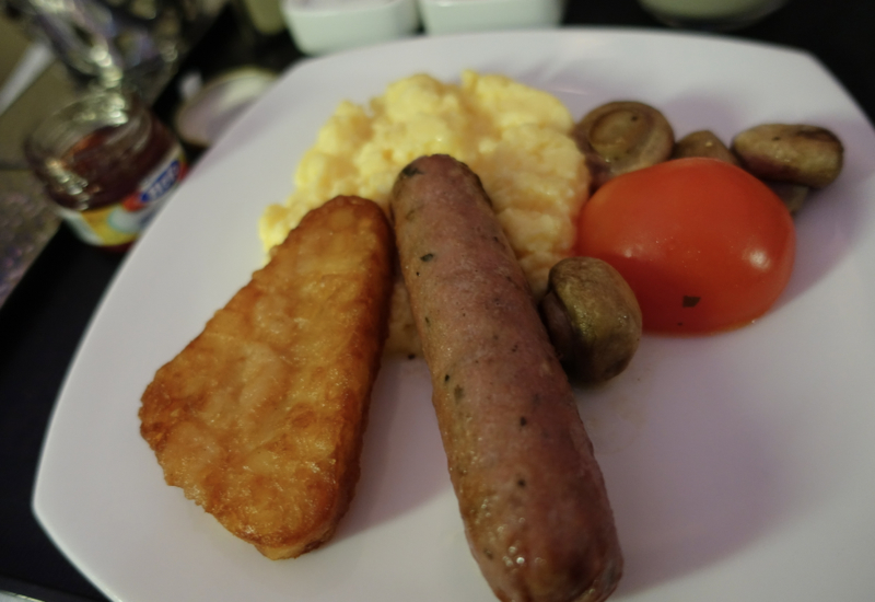 Etihad Business Class Review A330-200: Scrambled Egg Breakfast