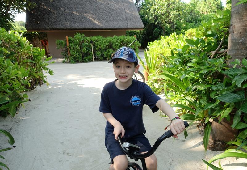 Fun Riding a Bike Around Four Seasons Landaa Giraavaru