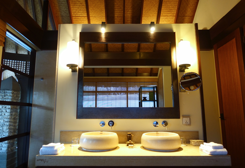 Beach Pavilion Bathroom Dual Vanities, Kuda Huraa