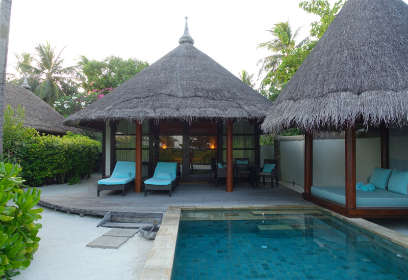 Beach Pavilion Plunge Pool and Thatched Roof Bale, Kuda Huraa