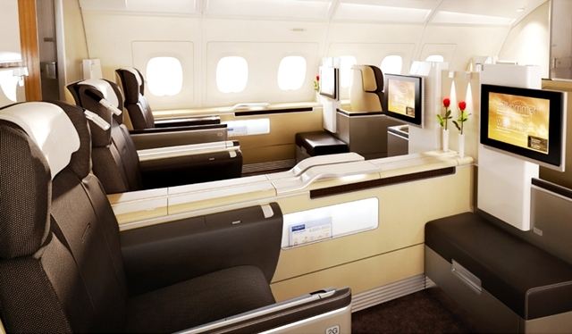 Best Credit Cards to Pay for Wedding to Earn First Class Award Travel to Europe-Lufthansa First Class