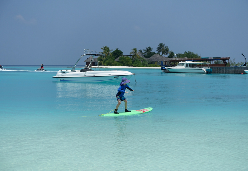 Learn to Surf at Four Seasons Maldives at Kuda Huraa