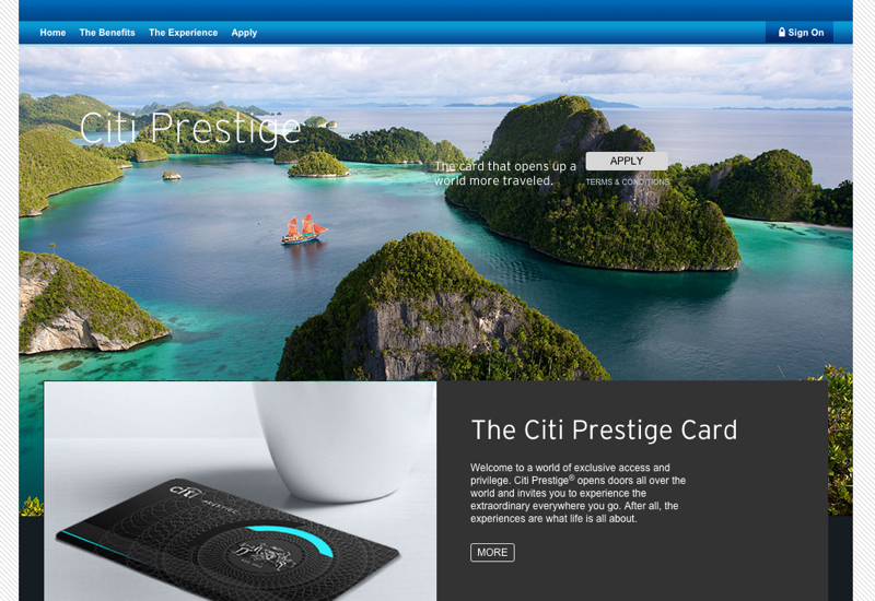 100K Citi Prestige Card Signup Bonus Offer (Targeted)