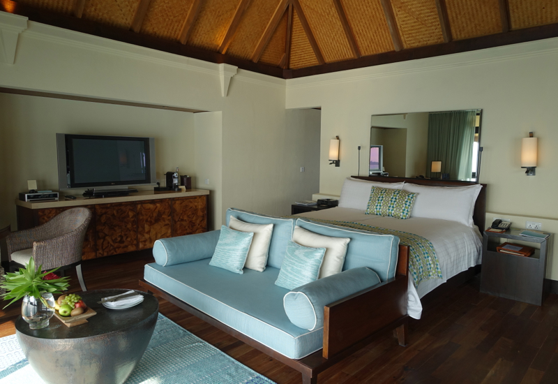 Sunset Water Bungalow King Bed, Four Seasons Maldives at Kuda Huraa