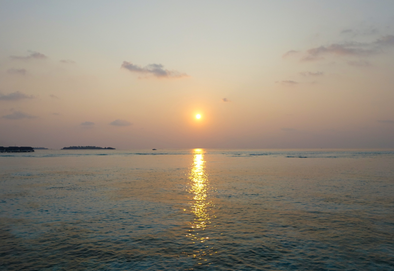 Sunset from Sunset Water Bungalow, Four Seasons Maldives at Kuda Huraa