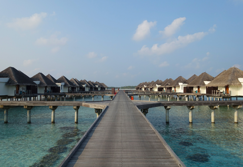 Jetty to Water Bungalows, Four Seasons Maldives at Kuda Huraa