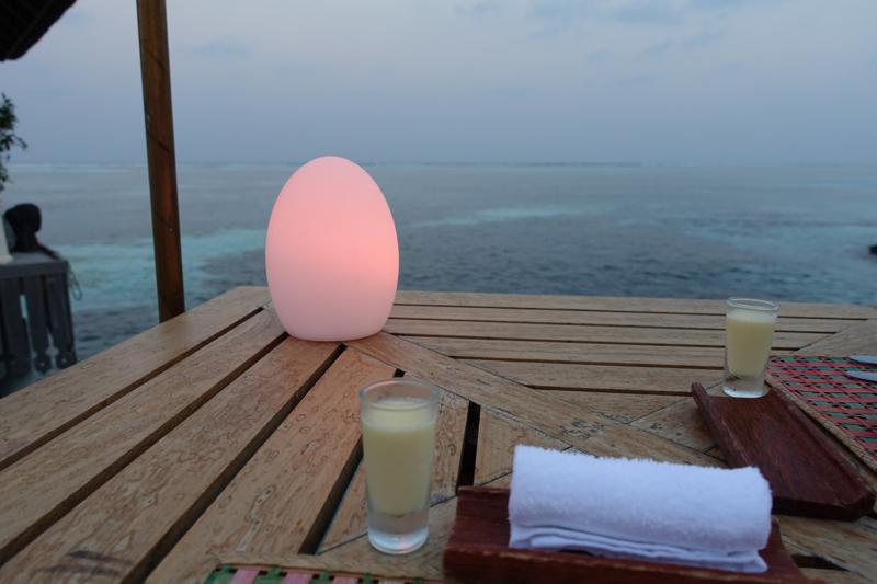Baraabaru Indian Buffet Night: Refreshing Towel and Mini Mango Lassis
