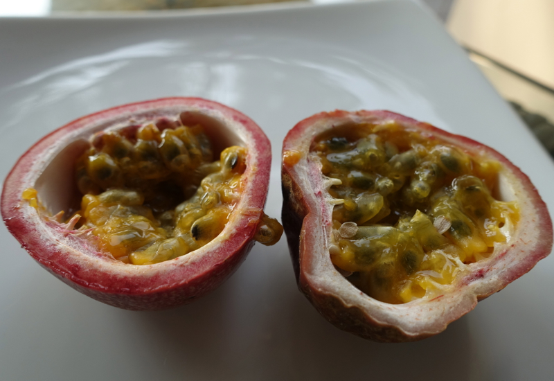 Four Seasons Maldives Kuda Huraa Restaurants: Fresh Passionfruit for Breakfast