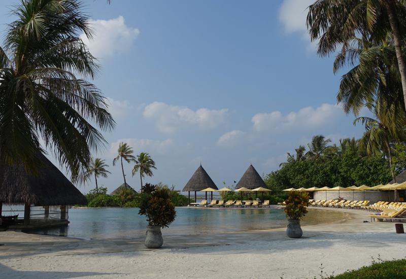 View from Cafe Huraa, Four Seasons Maldives at Kuda Huraa