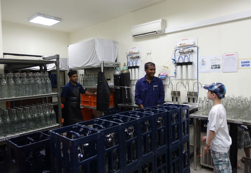 Water Bottling, Back of the House Tour, Four Seasons Kuda Huraa