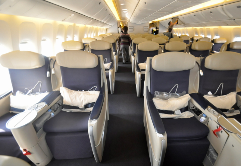 flat bed business class to tahiti and bora bora