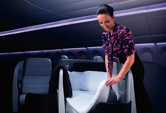 Flat Bed Business Class to Tahiti and Bora Bora?