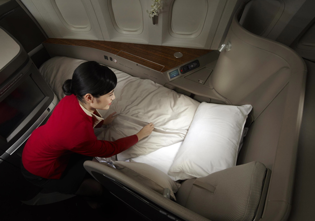 Best First Class Airline Beds: Cathay Pacific First Class