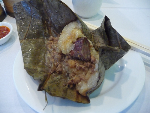 Lotus Leaf Wrapped Sticky Rice, Oriental Garden, NYC