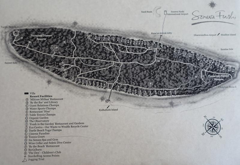 Soneva Fushi Resort Map