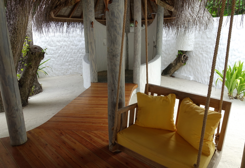 Porch Swing in the Outdoor Bathroom, Soneva Fushi