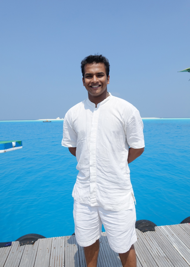 Our Mr Friday, Aravind, Soneva Fushi