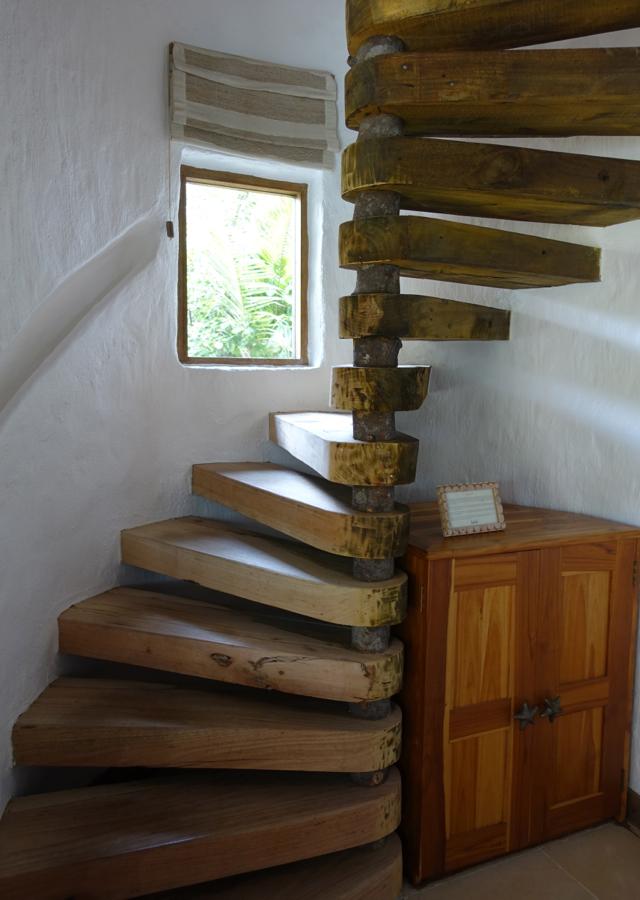 Soneva Fushi Maldives Review - Crusoe Villa Spiral Staircase