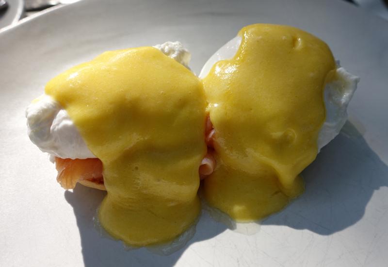 Eggs Benedict with Smoked Salmon, Soneva Fushi Breakfast
