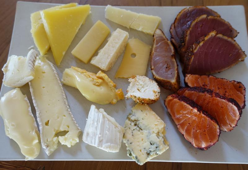 Cheese Plate with Salmon and Tuna, Soneva Fushi