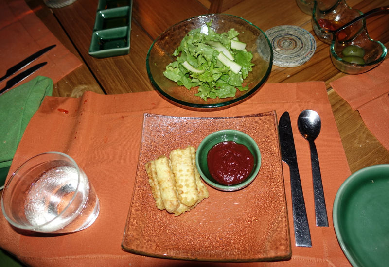 Kids' Meal of Fish Fingers and Salad, Fresh in the Garden