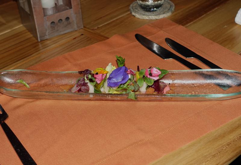 Maldivian Tuna Appetizer, Fresh in the Garden, Soneva Fushi