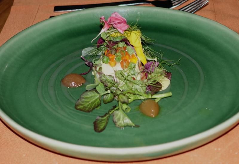 Tasmanian Salmon Appetizer, Fresh in the Garden, Soneva Fushi