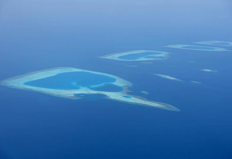 Atolls in the Maldives, View from Trans Maldivian Seaplane