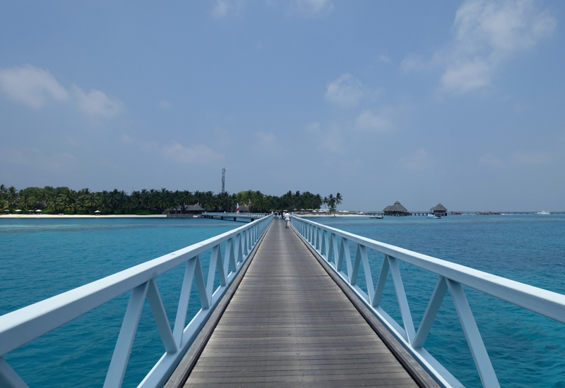 Bridge Connecting the Islands and the Seaplane Landing Area, Conrad Maldives