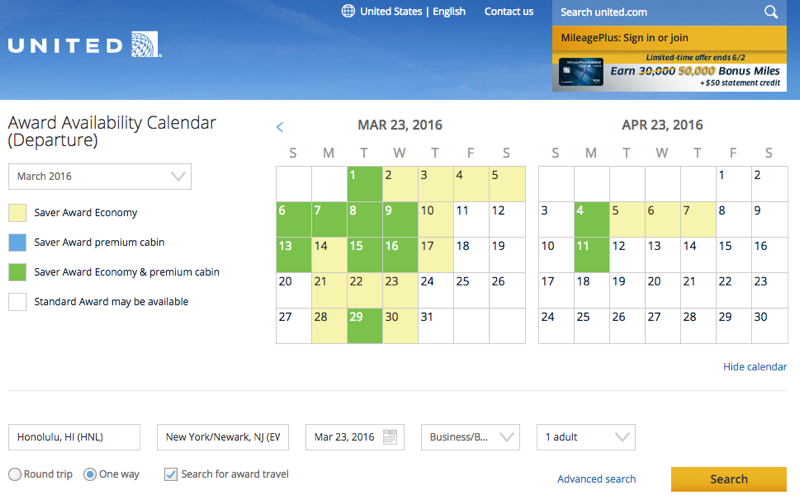 New United Site Fails: Seems to Show Nonstop Saver Award Space When There is None