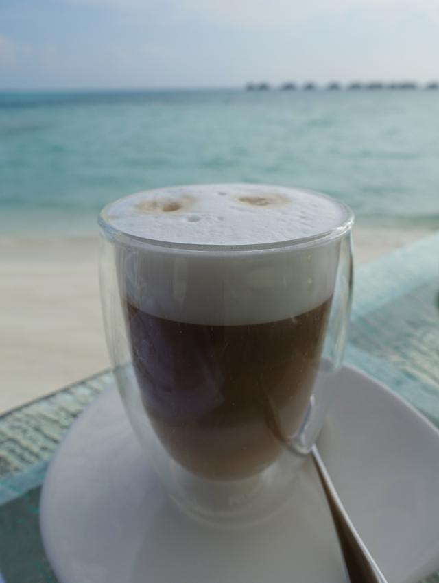 Cappuccino, Vilu Restaurant, Conrad Maldives