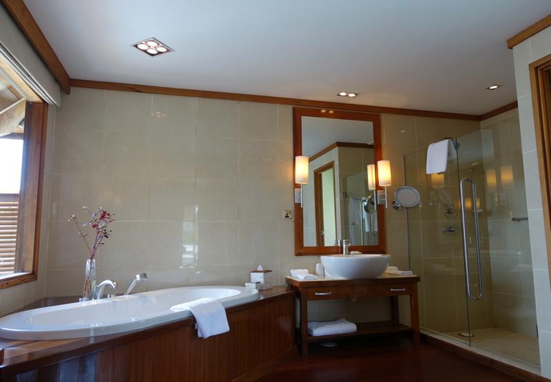 Superior Water Villa Bathroom, Conrad Maldives