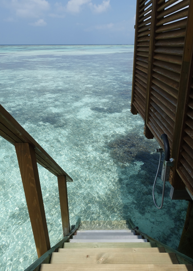 Stairs to Ocean, Superior Water Villa at Conrad Maldives