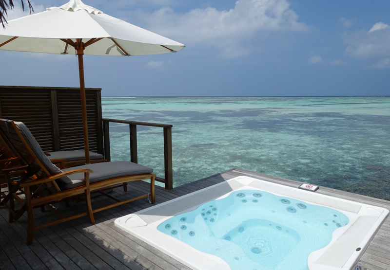 Superior Water Villa Sun Deck and Whirlpool, Conrad Maldives