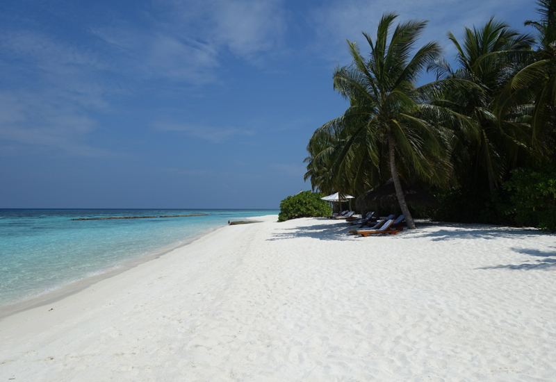 Relaxing on the Beach, Conrad Maldives