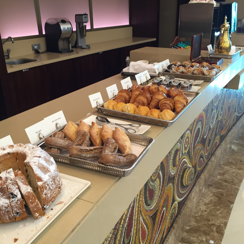 Emirates First Class Lounge Dubai Review-Breakfast Pastries