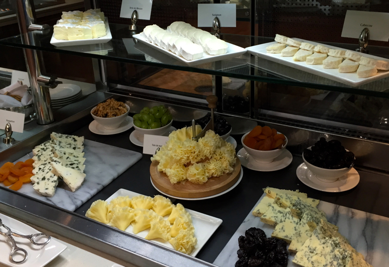 Emirates First Class Lounge Dubai Review-Cheese Selection