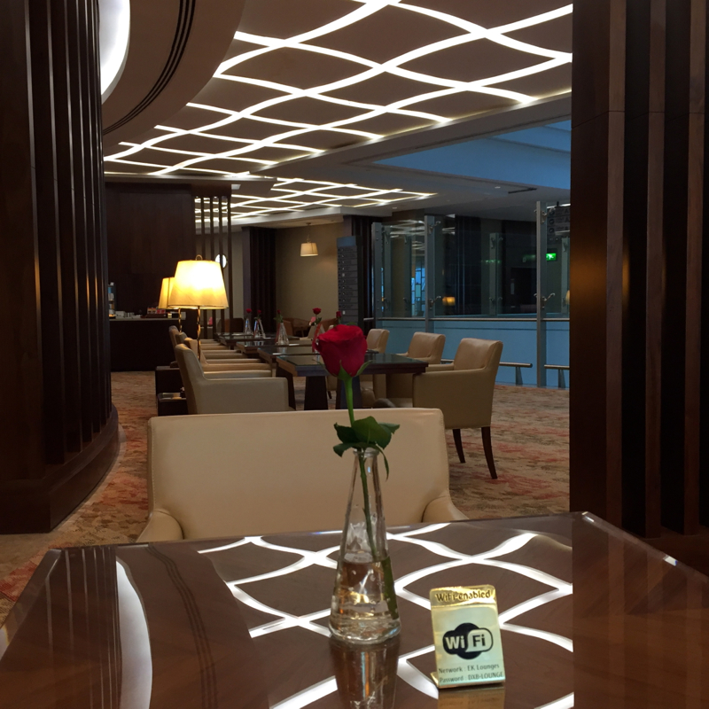 Emirates First Class Lounge Dubai Review-Seating