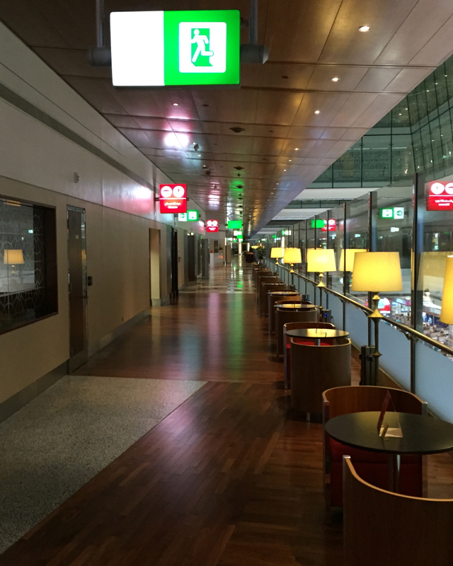 Emirates First Class Lounge Review-Walkway
