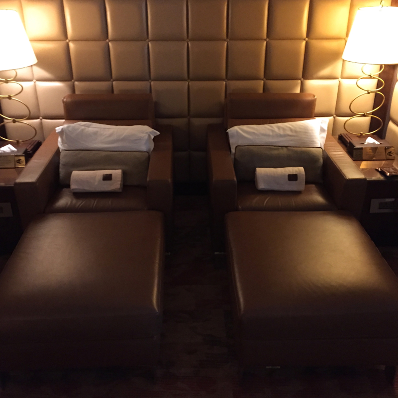 Emirates First Class Lounge Review Dubai-Relaxation Chairs Perfect for Napping